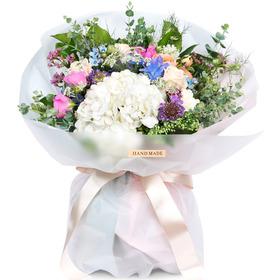 예쁜 수국 혼합 꽃다발